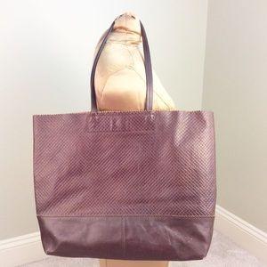 Banana Republic Brown Raw Leather Marcella Tote